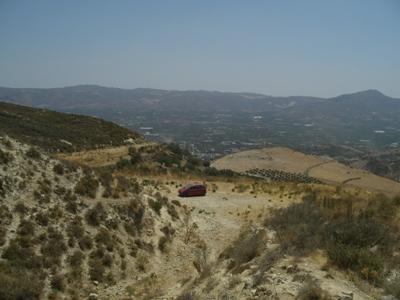 Blick von der Labyrinth-Höhle des Minotaurus nach Süden aufs Asteroussia Gebirge