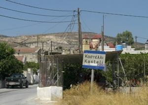 Ortseingang Kastelli auf Kreta